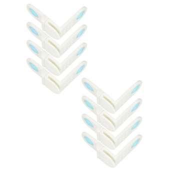 Schrank- und Schubladensicherung - Schrankschloss zum kleben mit 90° Winkel - Kindersicherung für Schranktüren ohne bohren - Sicherheit und Schutz für Babys und Kleinkinder - 8 Stück