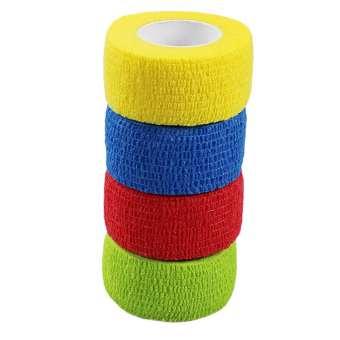 Elastische Haft-Bandage, Fixierbinde für Sport und Freizeit - 4 Stück