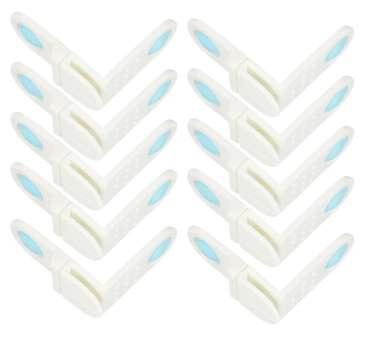 Schrank- und Schubladensicherung - Schrankschloss zum kleben mit 90° Winkel - Kindersicherung für Schranktüren ohne bohren - Sicherheit und Schutz für Babys und Kleinkinder - 10 Stück