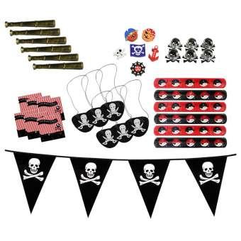 Piraten-Give Aways-Set für Geburtstagsfeier bis zu 6 Kinder Mitgebsel (37-teilig - Give Away)