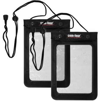 2x Wasserdichte Tasche, Schutzhülle geeignet für Tablets und E-Books in schwarz