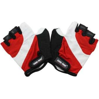 Fitness- und Fahrradhandschuhe Rot, Weiß, Schwarz (Größe: L)