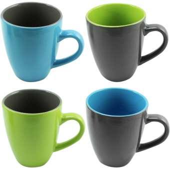 Kaffeebecher 300ml graugrün 4x