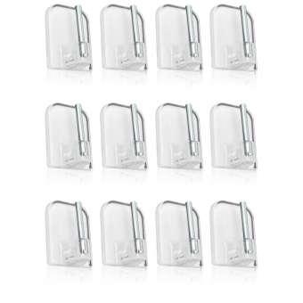 24x selbstklebende Gardinenhaken für Vitragestangen im Sparpack