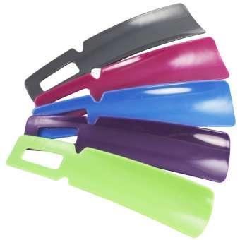 Schuhlöffel in tollen Farben, Ideal für Reisen, Größe S, 16 cm - 5 Stück