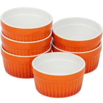 Ragout Fin Schale - Dessertschale in orange - Creme Brulee Schälchen je 185 ml - 6 Stück