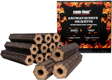 Holz-Briketts aus Apfelholz, 100% natürliche Holz Grillkohle für Smoker-, Kugel- und Standgrills - 10 Kg