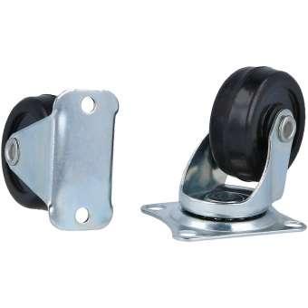 Lenkrolle klein, Transportrollen mit und ohne Schwenklager 4 Stück